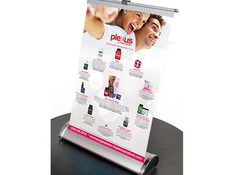 Plexus Slim Retractable Table Banner